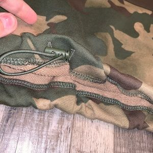 adidas Tops - Adidas green Camo quarter zip sweatshirt
